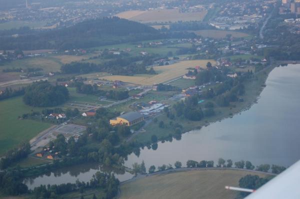 Aquapark Olešná z letadla
